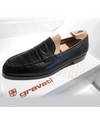 PENNY LOAFER IN BLACK PECCARY