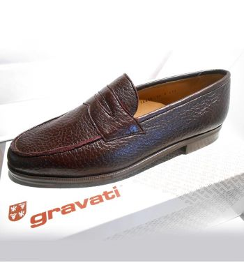 PENNY LOAFER IN BURGUNDY PECCARY