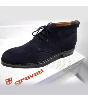 CHUKKA BOOT IN NAVY WATERPROOF SUEDE