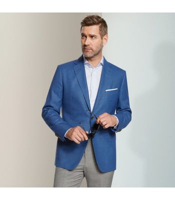 French Blue Blazer Textured