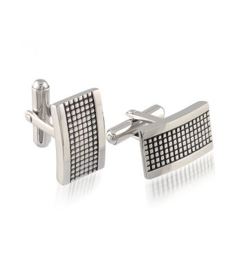 Waffle Rectangle Cuff Links