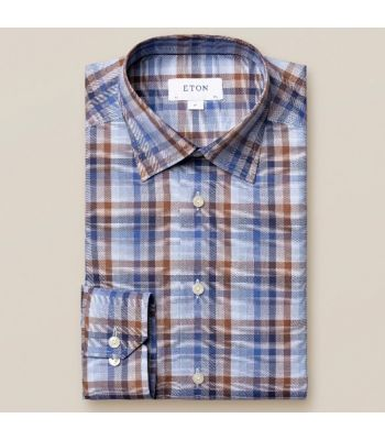 Blue & Brown Plaid Signature Twill