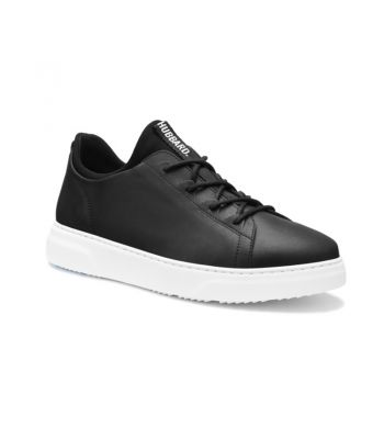Hubbard Flight- Carbon Black Leather / White Sole