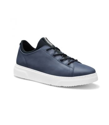 Hubbard Flight- Jet Blue Leather / White Sole