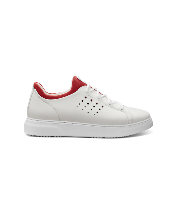 Hubbard Flight Sport: White Leather / Red Lining / White Sole