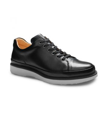 HUBBARD FAST - BLACK LEATHER/ LIGHT GREY SOLE