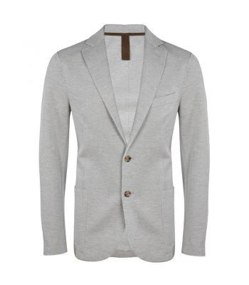 Light Grey Stretch Jersey Pique Jacket