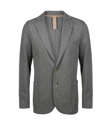 Medium Grey Stretch Jersey Pique Jacket