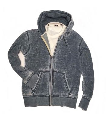 Burnout Denim Fleece Hoodie