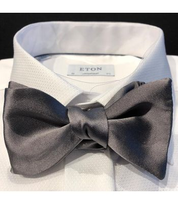 Charcoal Heavy Satin Bow