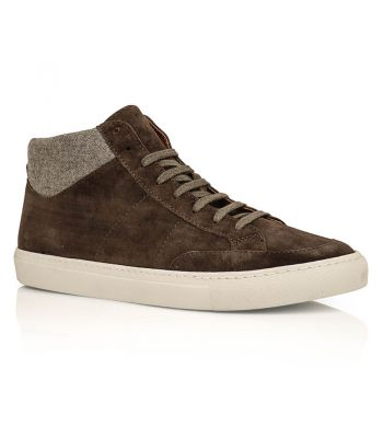 Suede & Flannel Mid-Top Sneakers